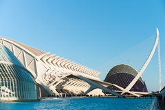 Amazing city Valencia in Spain. The city of the Arts and Sciences in Valencia, Spain Royalty Free Stock Image