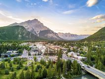 Amazing cityscape of Banff in Rocky Mountains, Alberta,Canada Royalty Free Stock Photo