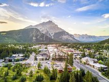 Amazing cityscape of Banff in Rocky Mountains, Alberta,Canada Stock Photography