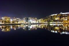 Amazing cityscape of Kavala, Greece Royalty Free Stock Images