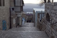 Amazing cityscapes of Zefat Israel. Views of the Holy Land royalty free stock image
