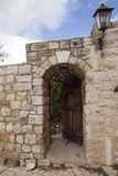 Amazing cityscapes of Zefat Israel. Views of the Holy Land royalty free stock photography
