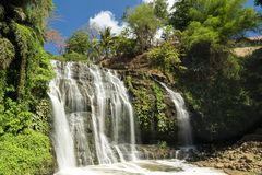 Waterfall in Antipolo province, Philippines. Amazing clean waterfall in Antipolo province, Philippines royalty free stock photos