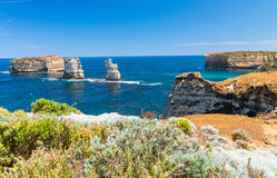 Amazing cliffs of Great Ocean Road in Victoria - Australia.  Royalty Free Stock Images