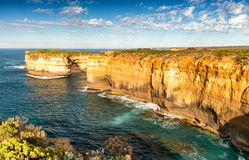 Amazing cliffs of Great Ocean Road in Victoria - Australia.  Royalty Free Stock Image