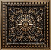 Amazing closeup view of ceiling decoration tiles, panel background Royalty Free Stock Photos