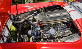 amazing closeup view of classic vintage  sport car detailed engine parts Royalty Free Stock Photo