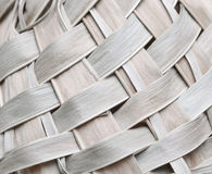 Amazing closeup view of old dried woven pattern palm leafs Stock Image