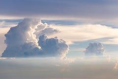 Amazing cloud. With light of sunset Stock Photos
