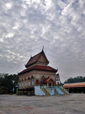 Amazing cloud at old  Thai Temple , Songkhla , Thailand. Old day Morning, I bike to this place and see the sky over here, Amazing cloud at old  Thai Temple Royalty Free Stock Photo