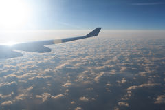 Amazing clouds and sky as seen from the plane. Amazing clouds and sky as seen throuhg the window of an aircraft Royalty Free Stock Photo