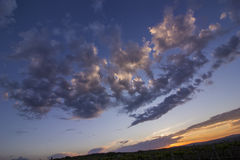 Amazing clouds after sunset Royalty Free Stock Images