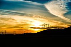 Amazing clouds. Amazing sunset and clouds near Deva,Romania Stock Image