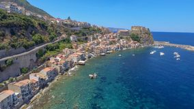 Amazing coastline of Calabria, aerial view.  royalty free stock photography