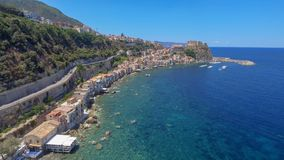 Amazing coastline of Calabria, aerial view.  royalty free stock image