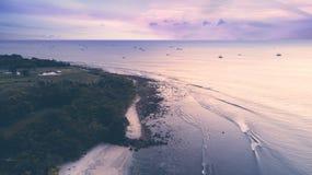 Amazing coastline at the sunrise time Royalty Free Stock Image