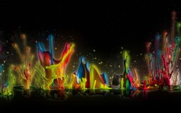 Amazing color splashes Stock Images