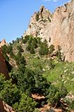 Amazing Colorado. Colorado Springs Garden of the Gods Public Park Contains Numerous Trails for Hiking, Walking, Mountain Biking and Horseback Riding. Vertical Stock Images