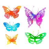 Amazing colorful background with butterflies,  watercolors Royalty Free Stock Photography