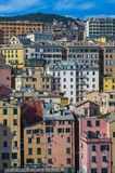 Amazing colorful buildings in Genoa, Italy. Amazing colorful close standing buildings in Genoa, Italy Stock Photography