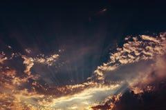 Amazing colorful sunset sky. Amazing colorful dark sunset sky royalty free stock photography