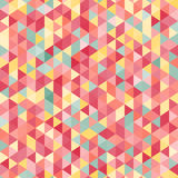 Amazing colorful pink vintage geometric mosaic triangle pattern Royalty Free Stock Images