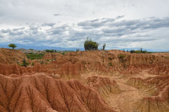 Amazing colorful sands of Tatacoa desert - beauty of nature Stock Photography
