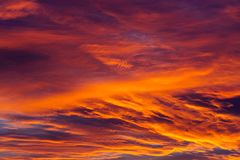 Amazing sky background with clouds in sunrise. Amazing colorful sky background with clouds in sunrise Royalty Free Stock Images