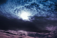 Amazing colorful sky with cloudy nature background. stock images