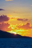 Amazing colorful sunset on the exotic island of Royalty Free Stock Image
