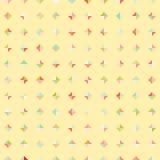 Amazing colorful yellow vintage geometric rhombus pattern Royalty Free Stock Photo