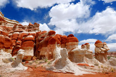 Amazing colors and shapes of sandstone formations of Blue Canyon in Hopi reservation, Arizona Stock Image