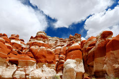 Amazing colors and shapes of sandstone formations of Blue Canyon in Hopi reservation, Arizona Stock Photo