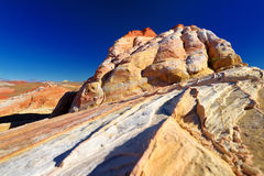 Amazing colors and shapes of sandstone formations in Valley of Fire State Park Stock Photos