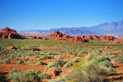 Amazing colors and shapes of sandstone formations in Valley of Fire State Park Stock Photo