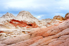 Amazing colors and shapes of sandstone formations in White Pocket, Arizona Stock Image