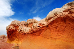 Amazing colors and shapes of sandstone formations in White Pocket, Arizona Royalty Free Stock Photography