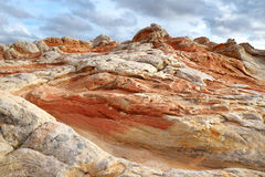 Amazing colors and shapes of sandstone formations in White Pocket, Arizona Stock Photography