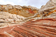 Amazing colors and shapes of sandstone formations in White Pocket, Arizona Royalty Free Stock Photo