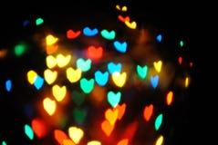 Heart bokeh Royalty Free Stock Photos