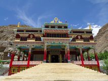 Buddhist monastery in Kaza Spity valley Royalty Free Stock Image