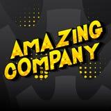 Amazing Company - palabras del estilo del cómic stock de ilustración
