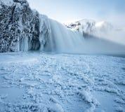Insane frozen waterfall in iceland