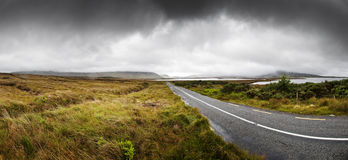 Amazing Country Highway in Connemara Royalty Free Stock Photo