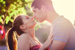 Amazing couple portraits Stock Photography