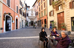 Amazing courtyard in Rome Stock Photography