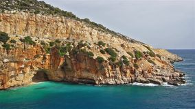 Amazing cove view from Demre - Finike way. Kas, Antalya, Turkey.  stock footage