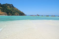 Amazing crystalline water at Krabi Royalty Free Stock Photo