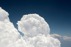 Amazing cumulus cloud formation in dark blue sky Royalty Free Stock Image