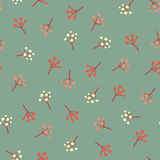 Amazing cute seamless vintage colorful berry pattern Stock Photo